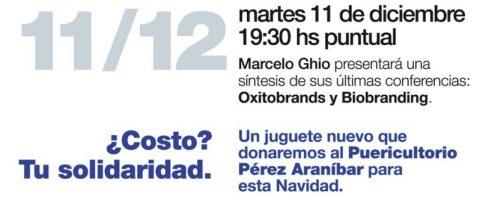 Marcelo Ghio invita a charla en beneficio de niños del Puericultorio Pérez Araníbar
